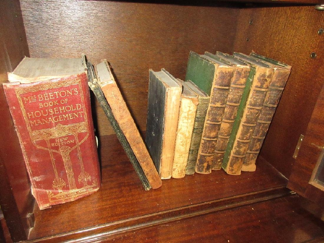 Small quantity of various part leather bound books - 2