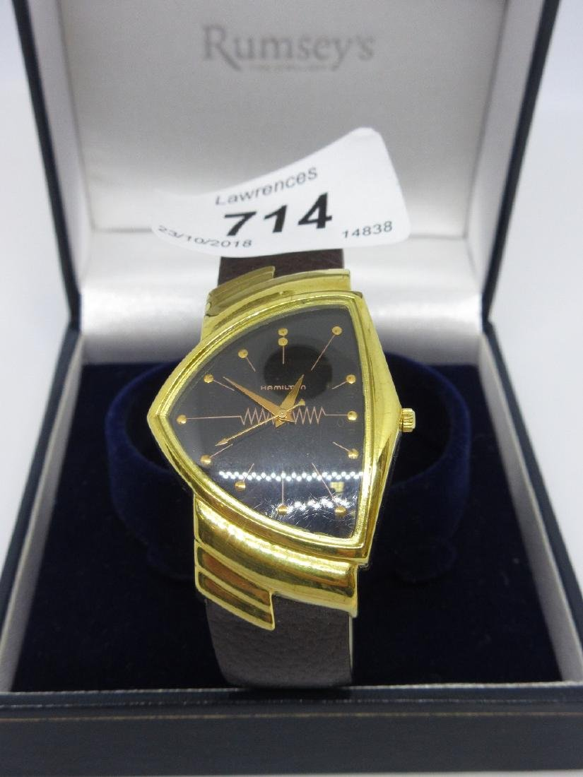 Gentleman's Hamilton Ventura gold plated wristwatch