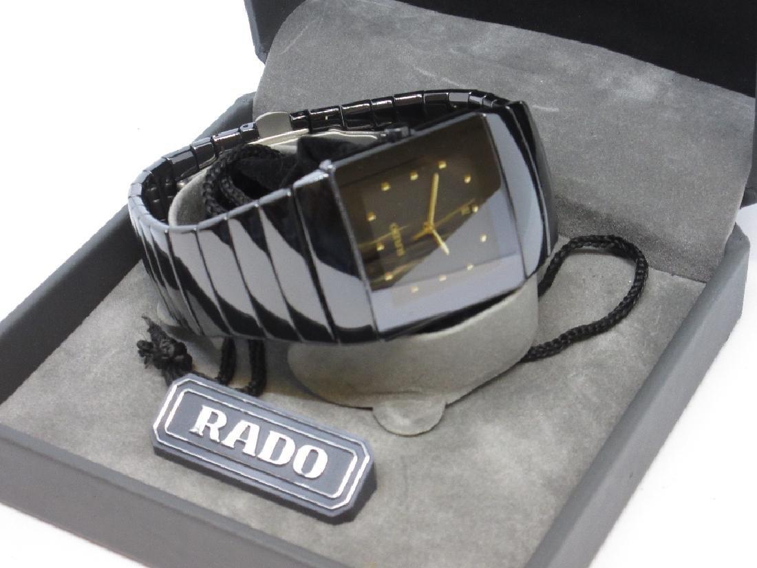 Gentlemen Rado, black Ceramica wristwatch with original