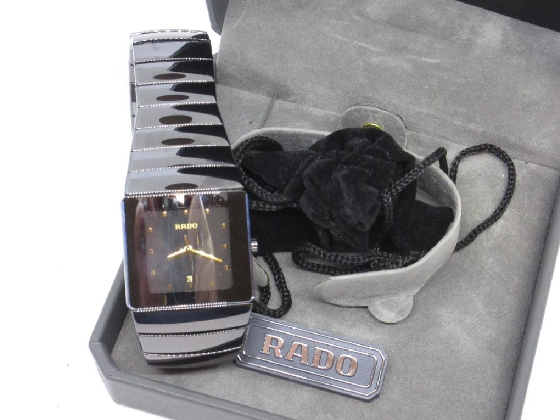 Gentlemen Rado, black Ceramica wristwatch with original - 2