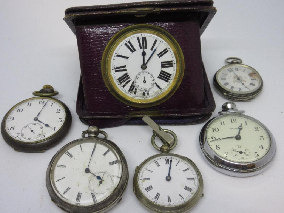 Ingersoll nickel plated pocket watch and various other