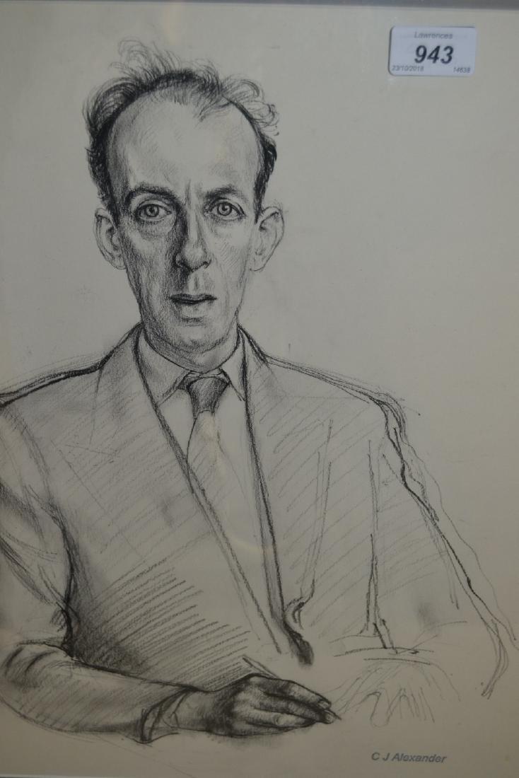 Christopher Alexander, chalk drawing, portrait of Alec