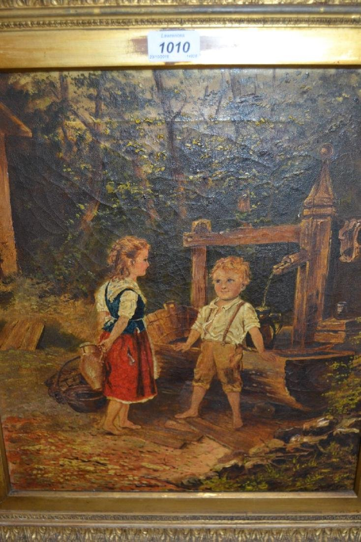 Late 19th / early 20th Century oil on canvas, children