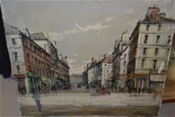 Mid 20th Century Italian school oil on canvas street
