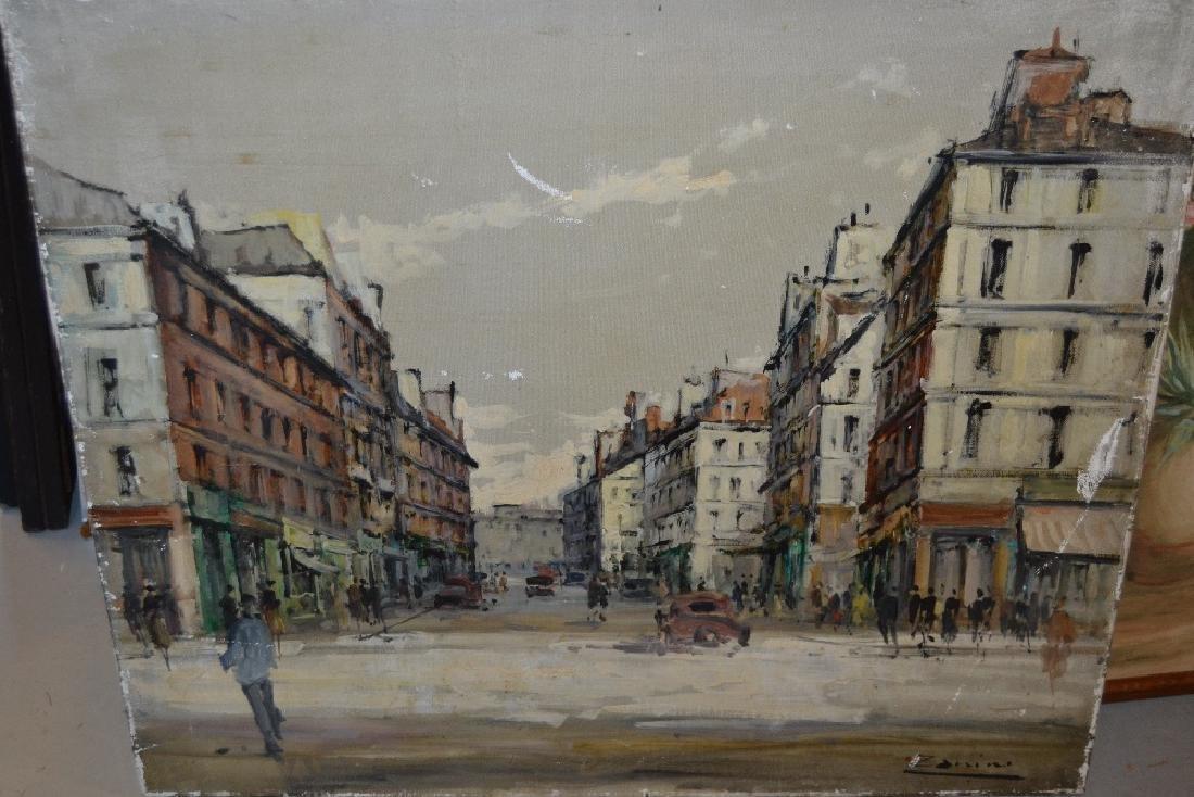 Mid 20th Century Italian school, oil on canvas, street