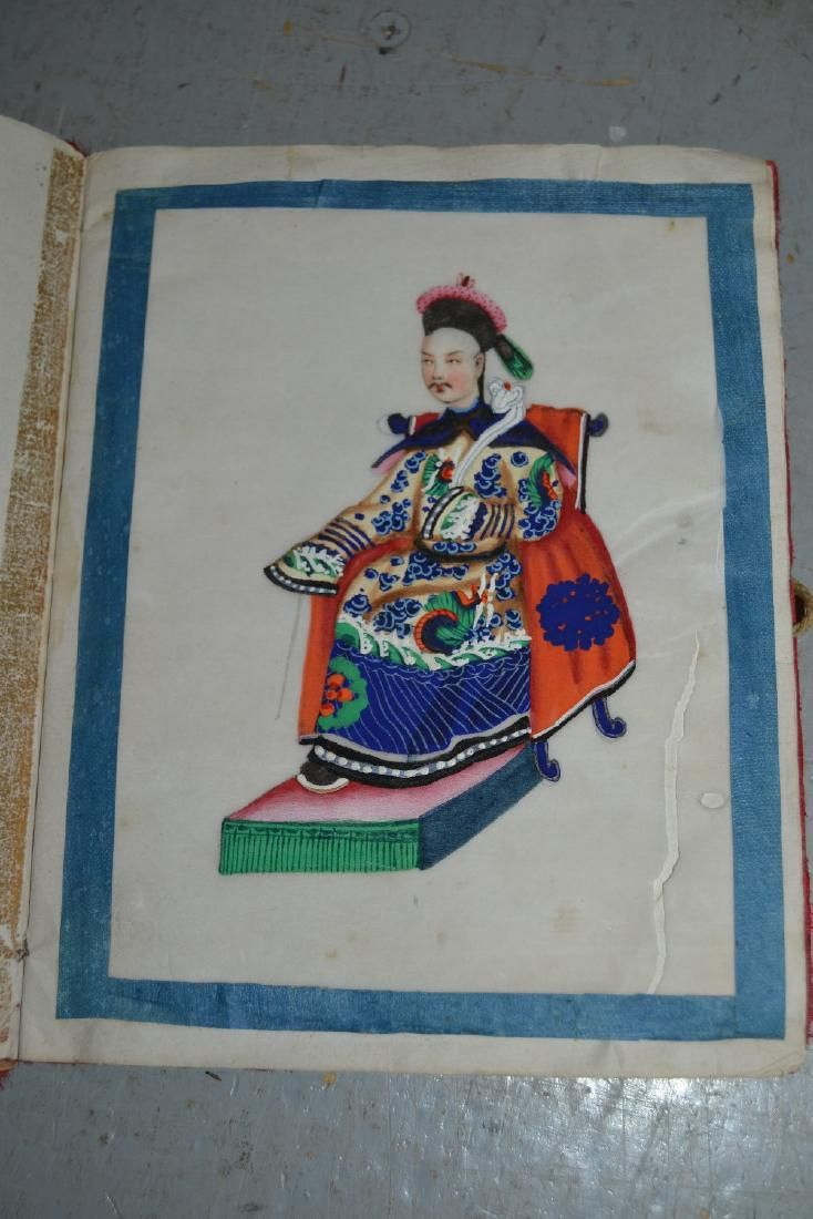Chinese school, an album containing twelve paintings on