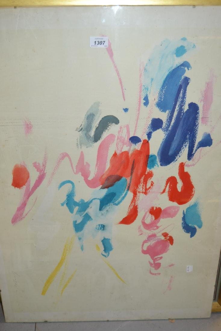 Mid 20th Century signed colour print, abstract