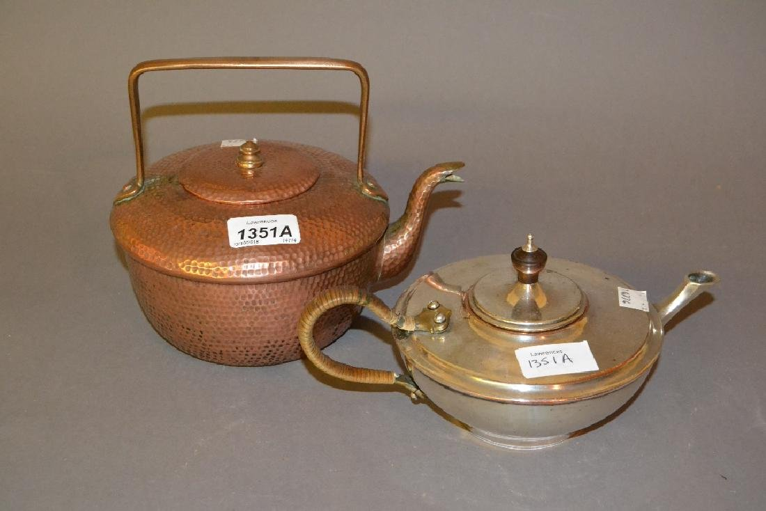 Benham & Froud copper kettle together with a Benson