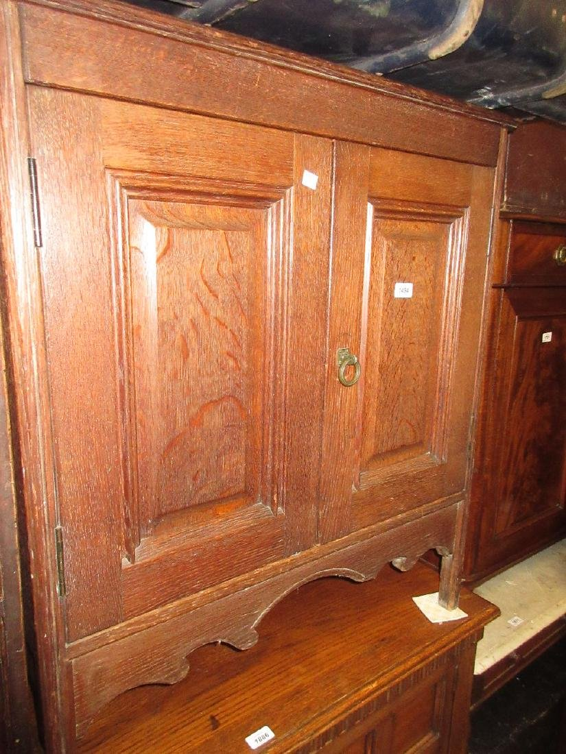 Gillow and Co., 19th Century oak washstand, the hinged