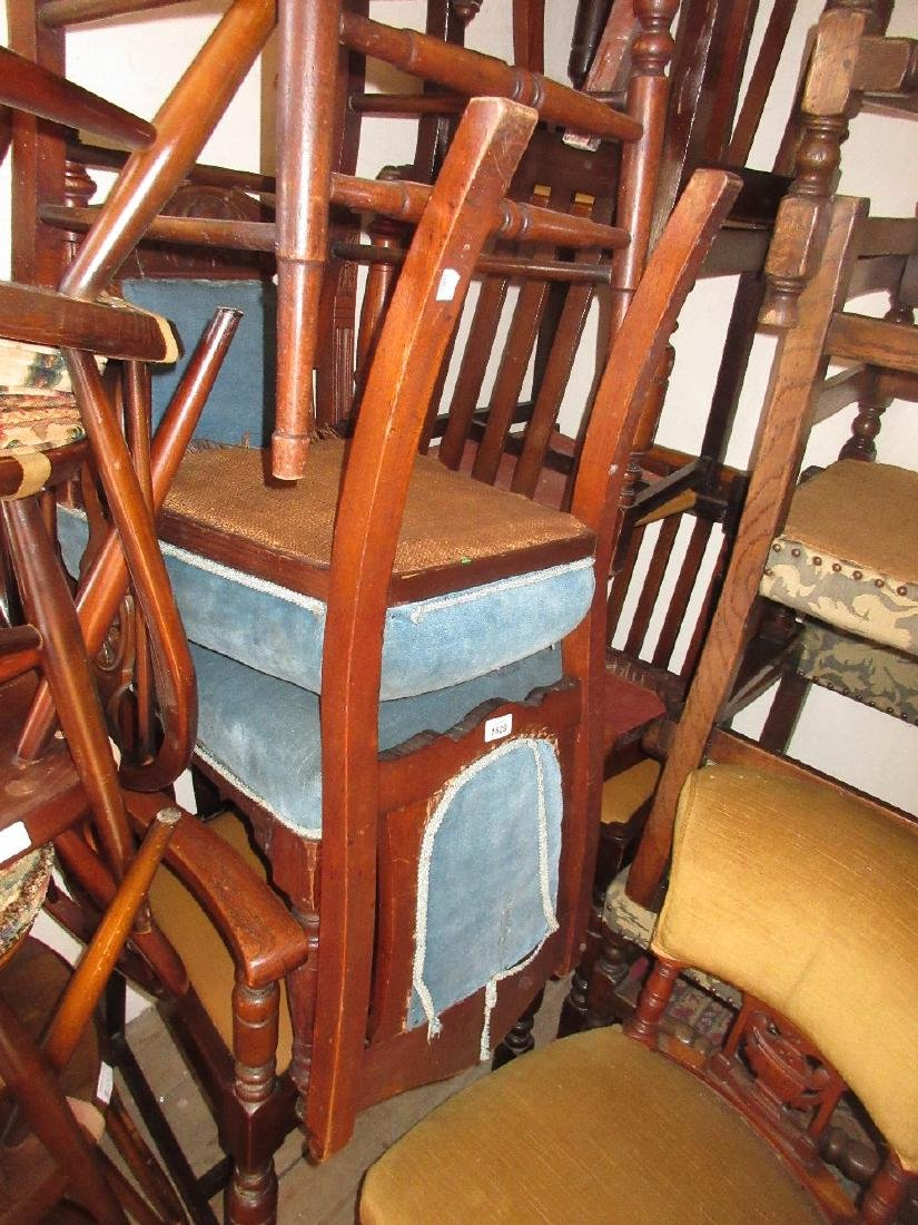Pair of late Victorian walnut side chairs having carved