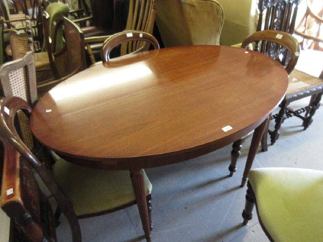 Reproduction mahogany oval extending dining table