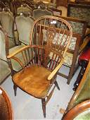 18th / 19th Century ash and elm Windsor chair, the