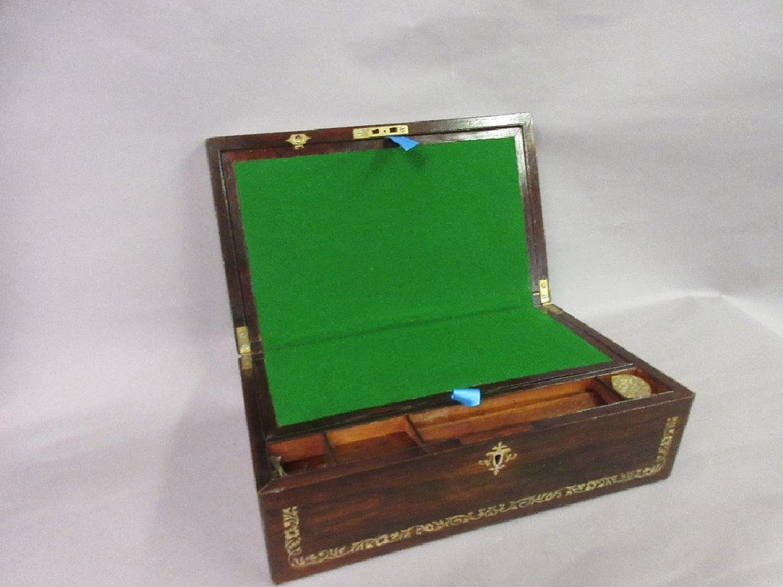 19th Century rosewood and mother of pearl inlaid - 2
