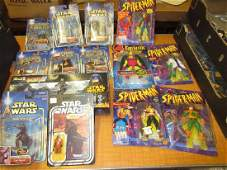 Collection of Star Wars and Marvel comics, boxed