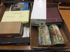 Two boxes containing a collection of World stamps in