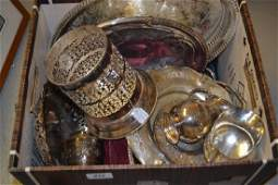 Two boxes containing a quantity of various silver