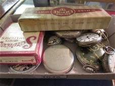 Small box containing a collection of various pocket