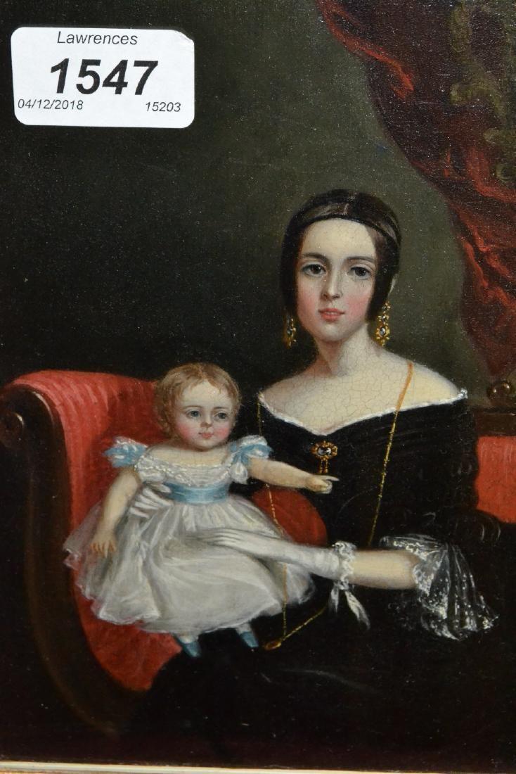 19th Century oil on panel, portrait of Arabella Cumming
