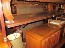 Early 20th Century oak refectory style dining table