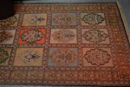 Turkish silk style runner with an all-over panel design