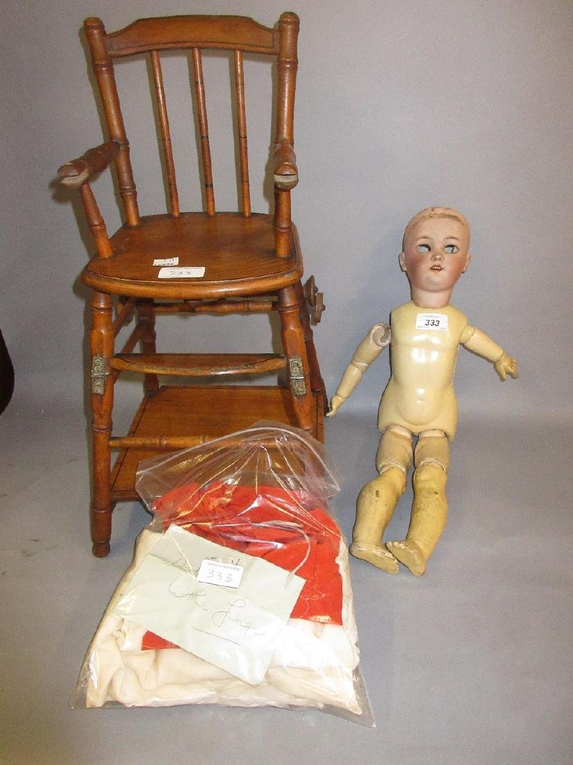Simon Halbig, bisque headed doll with jointed