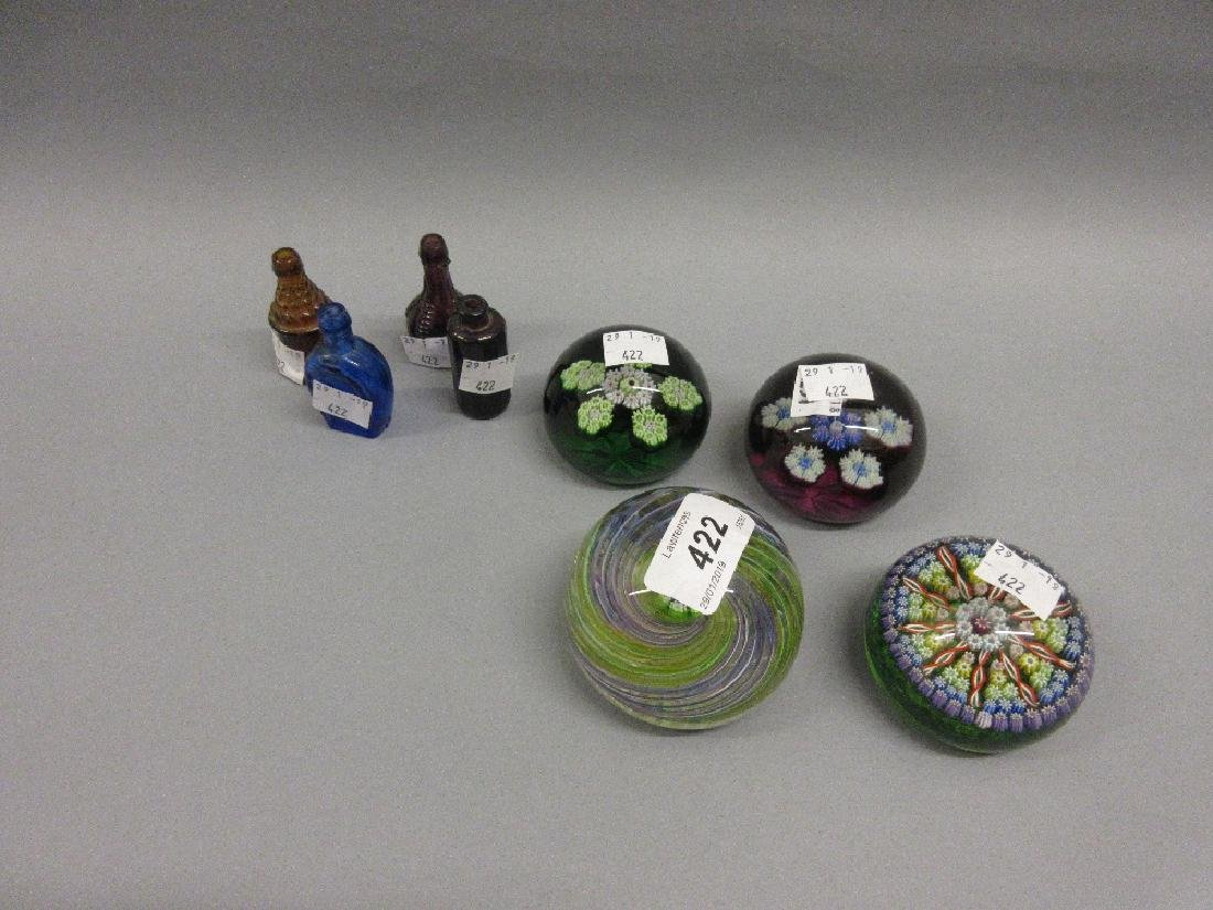 Group of four 20th Century Scottish glass paperweights