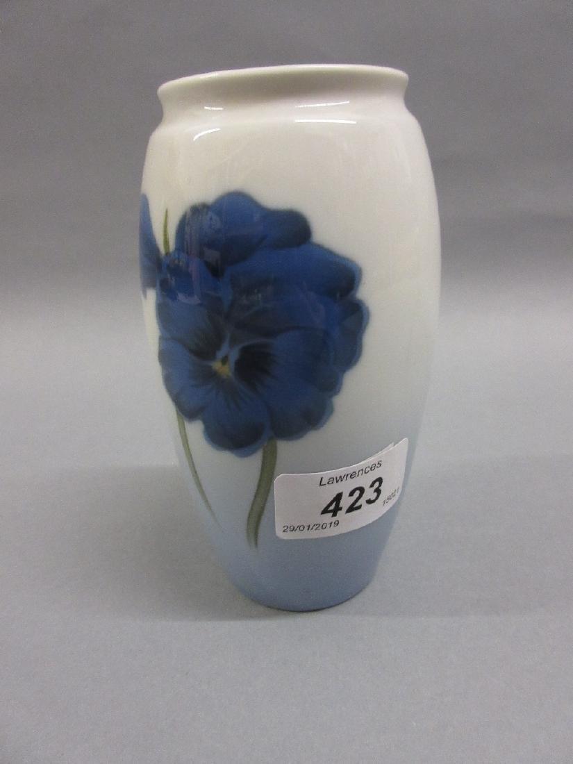 Small Copenhagen B. and G. porcelain baluster form vase