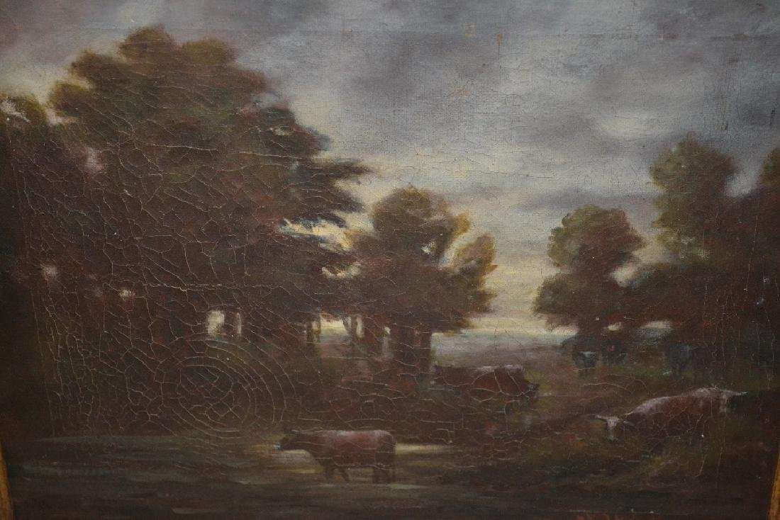 Henry Lightfoot, signed oil on canvas, cattle by a