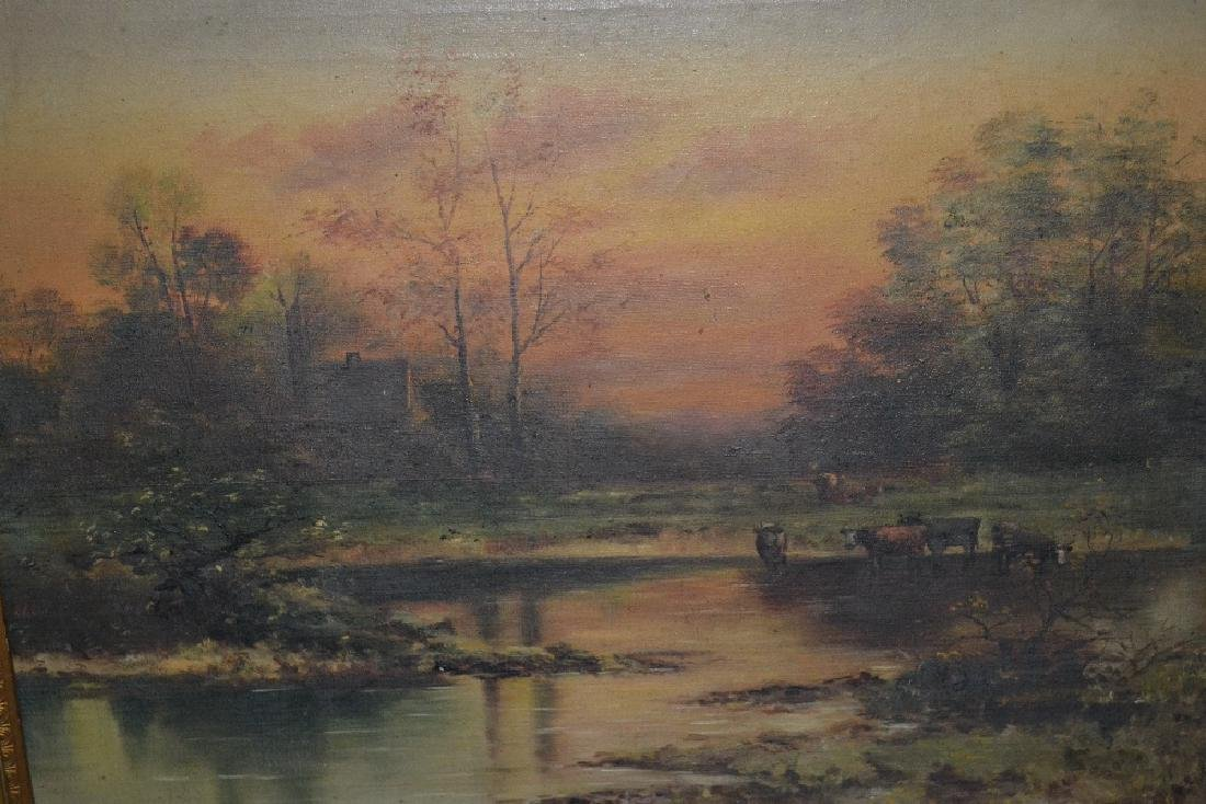 Late 19th or early 20th Century oil painting on canvas,