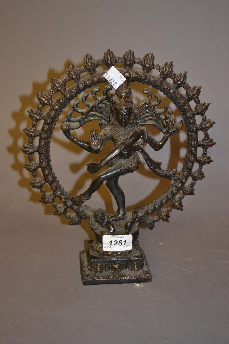 Indian brown patinated bronze figure of a Goddess