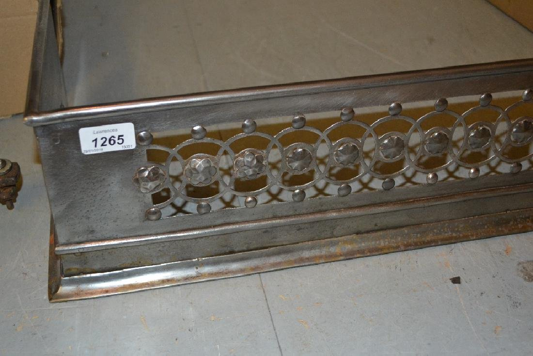19th Century pierced and polished steel fireplace