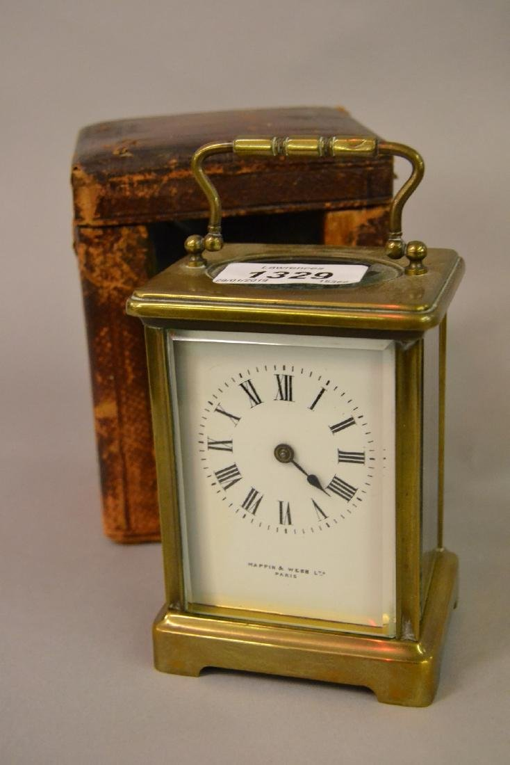 Mappin & Webb early 20th Century brass carriage clock
