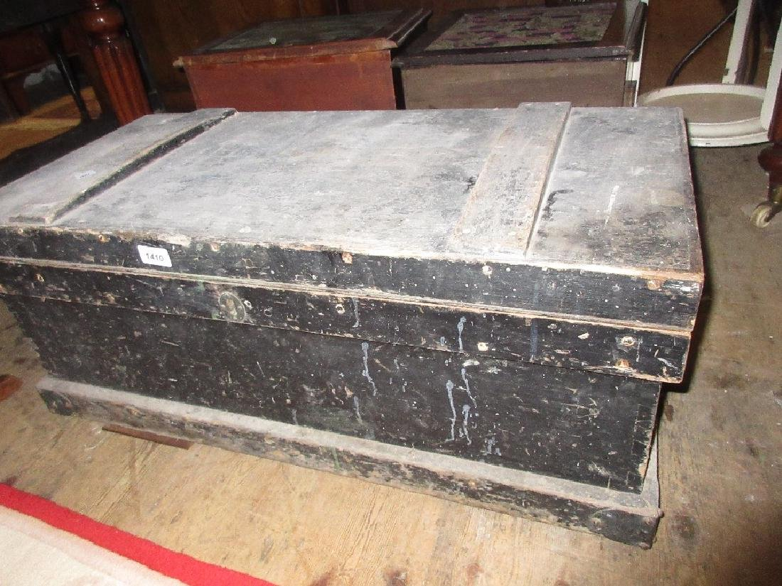 19th Century woodworker's tool box with sliding
