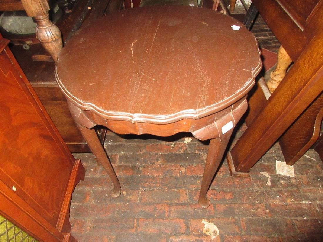 Two early 20th Century shaped occasional tables,