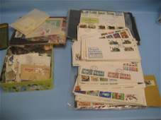 Three various albums of World stamps and a quantity of
