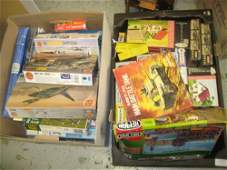 Two boxes containing a collection of various Airfix and
