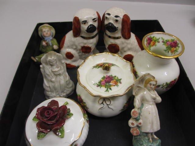 Three items of Royal Albert Country Rose pattern china,