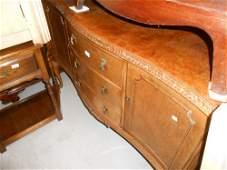 Mid 20th Century suite of burr walnut dining room