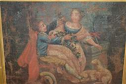 18th / 19th Century oil on canvas laid onto panel,