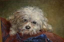 S.J. Watson, oil on canvas, entitled ' Mischievous