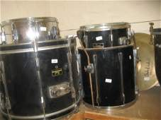Pearl drum kit with stands and symbols