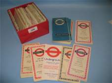 Box containing a quantity of London Transport maps from