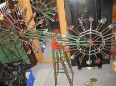 Large Meccano model of a double ferris wheel