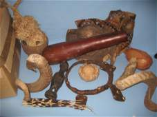 Collection of African native art etc including a