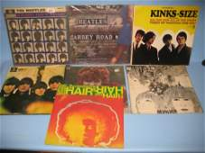 Group of seven 33 rpm LP records including Beatles