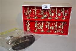 Cased set of twelve Hong Kong Sterling silver figural