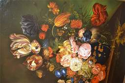 Large modern oil painting on canvas still life of