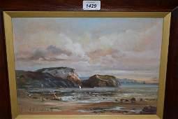 Robert Dumont-Smith, signed oil on canvas, coastal
