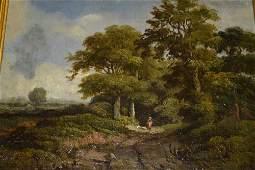 19th Century English school, pair of oil paintings on