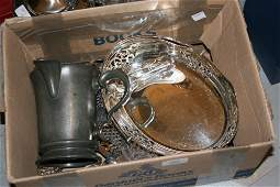 Box containing a small quantity of various silver
